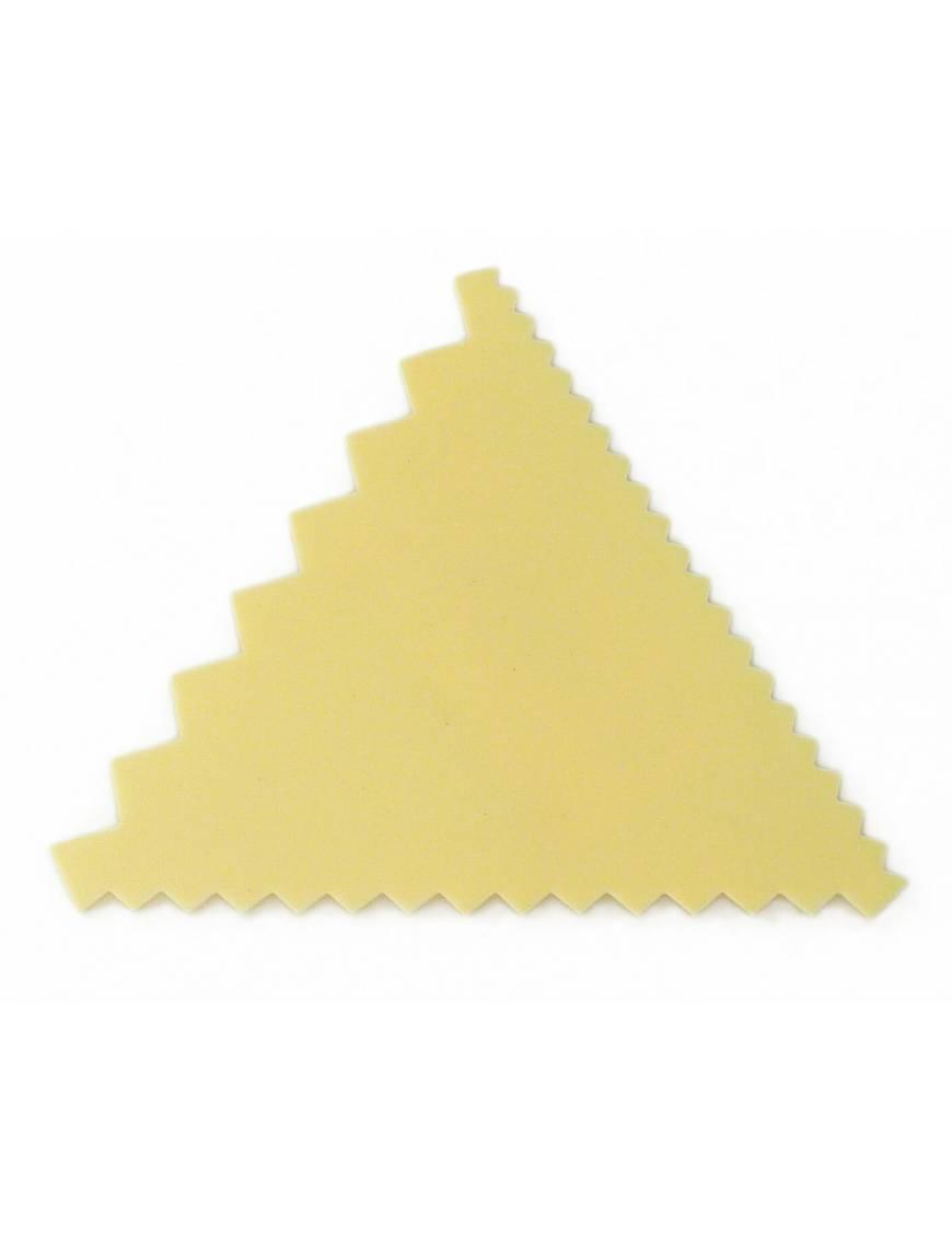 Peigne à décor triangle en plastique 3 côtés