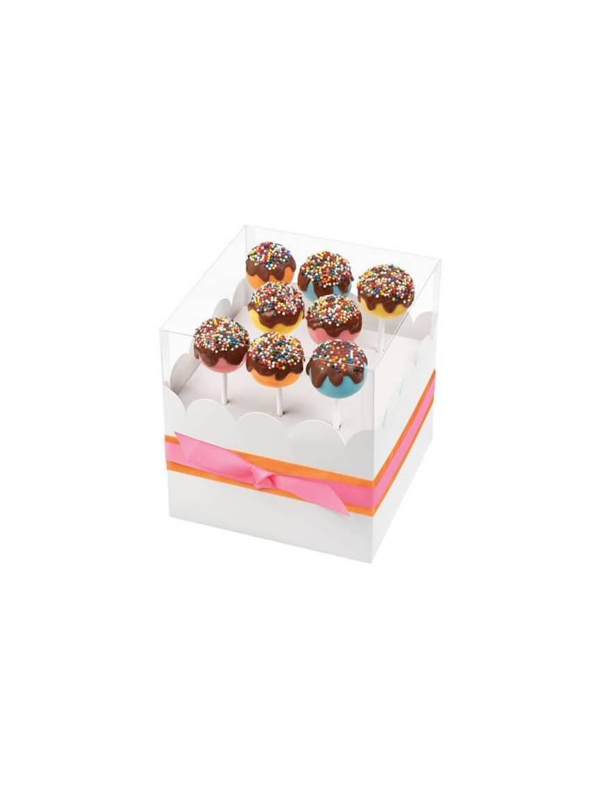 Boite cadeau pour 8 Cake pops et Sucettes