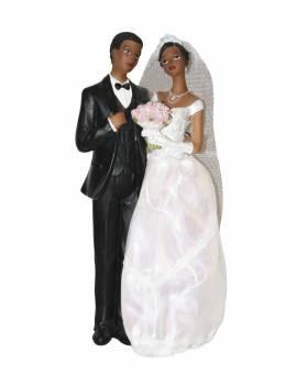 Couple Mariés de couleur 23cm