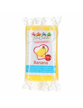 Pâte à Sucre Goût  Banane FunCakes  250 gr