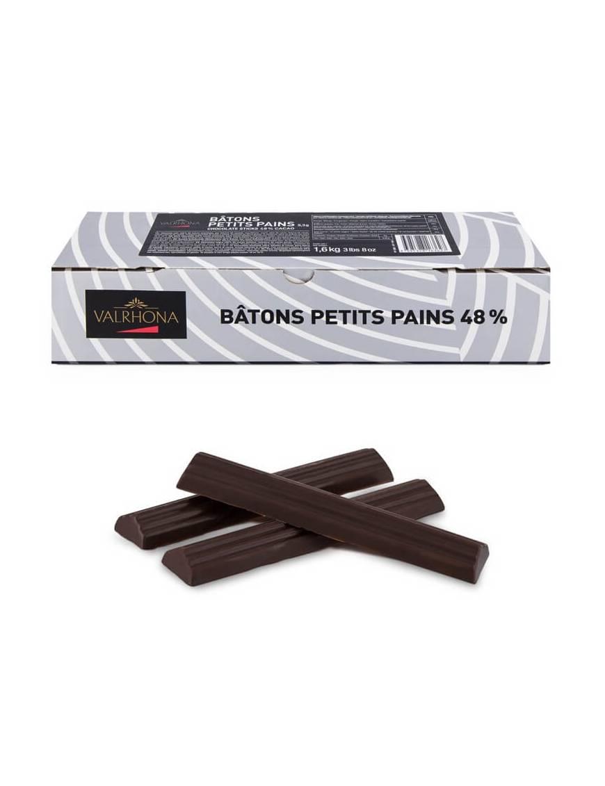 Bâton de chocolat 48 %  pour pain au chocolat - Valrhona   1.6kg - 5.3 gr