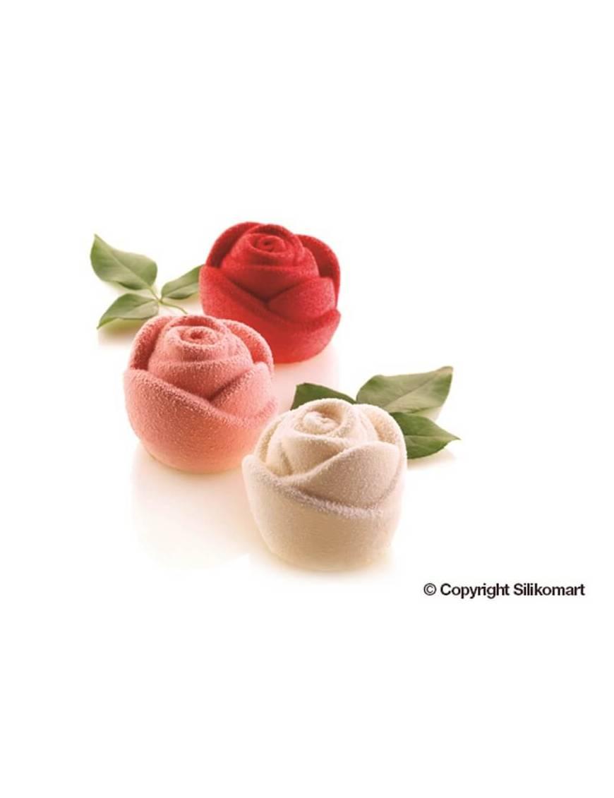Moule rose x6 3D ROSA- Silikomart Professional
