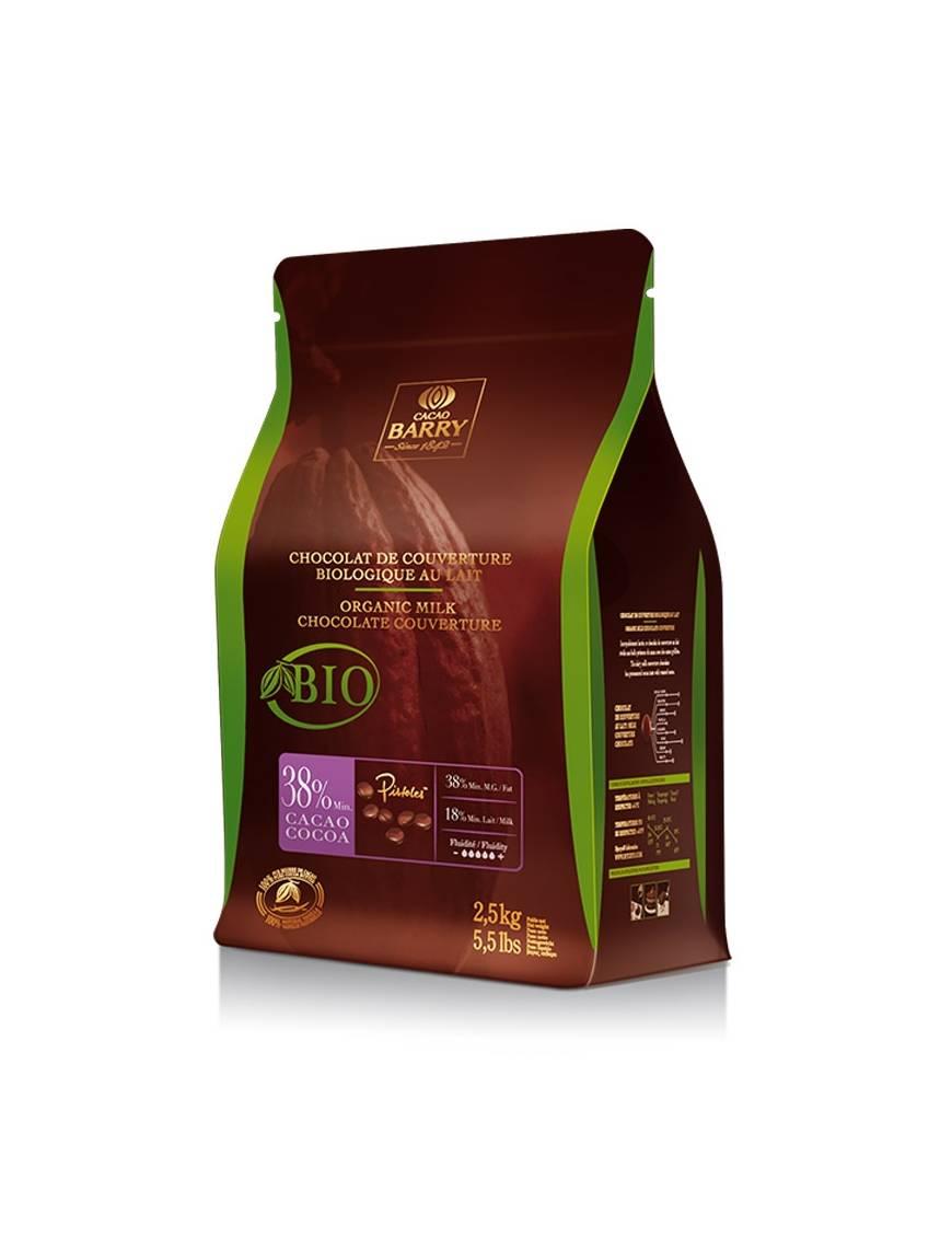 Chocolat au lait de couverture 38% 2,5kg - Cacao Barry
