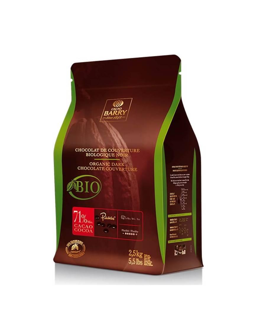 Chocolat noir de couverture 71% 2,5kg - Cacao Barry