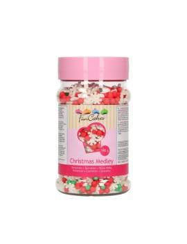 Décor en sucre mix noël 180gr - FunCakes