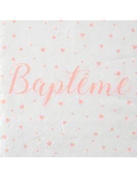 Serviette Baptême  par 20