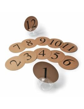 Marque-Tables Kraft de 1 à 12
