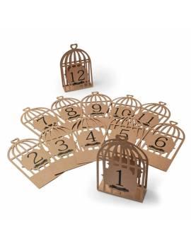 Marque-Tables Cages à Oiseaux de 1 à 12