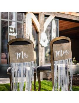 "Set 2 Dos de chaise ""Mr & Mme"""