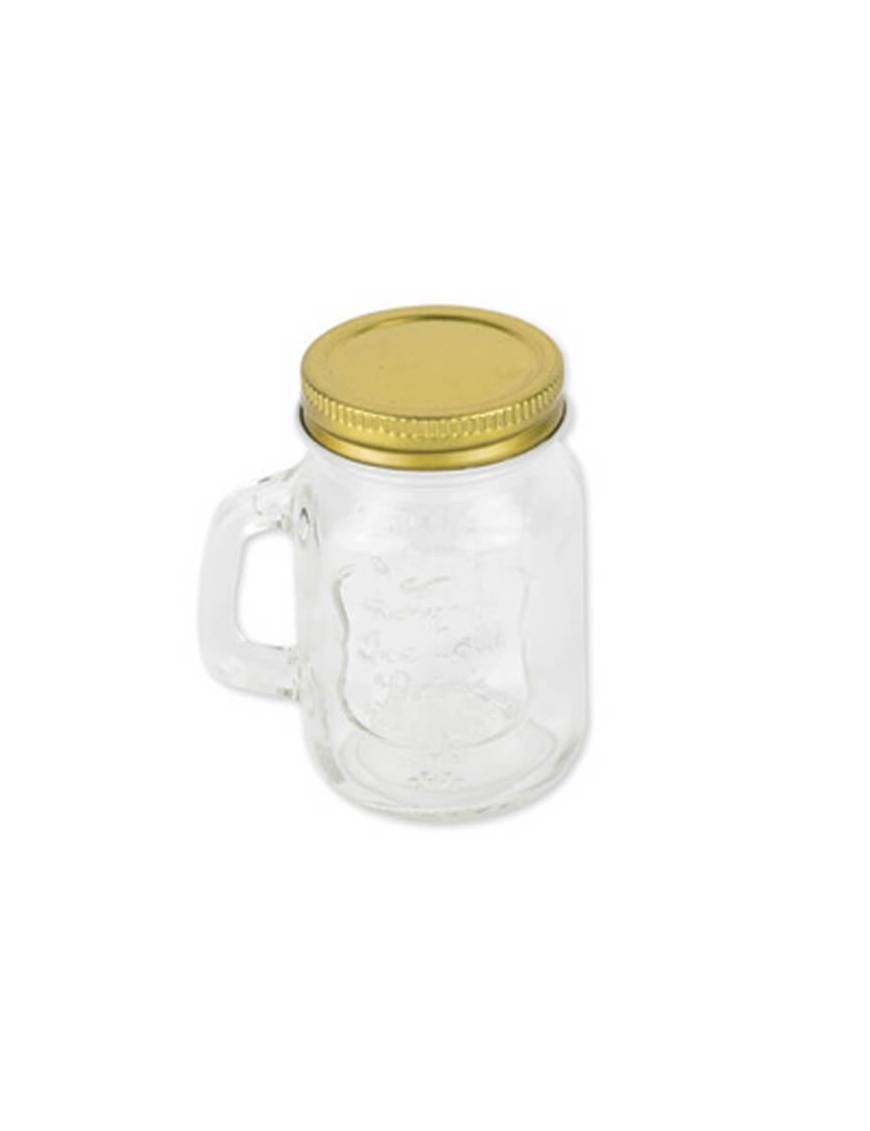 Mason Jar Or en verre 5,5 x 8,5 cm - 120ml
