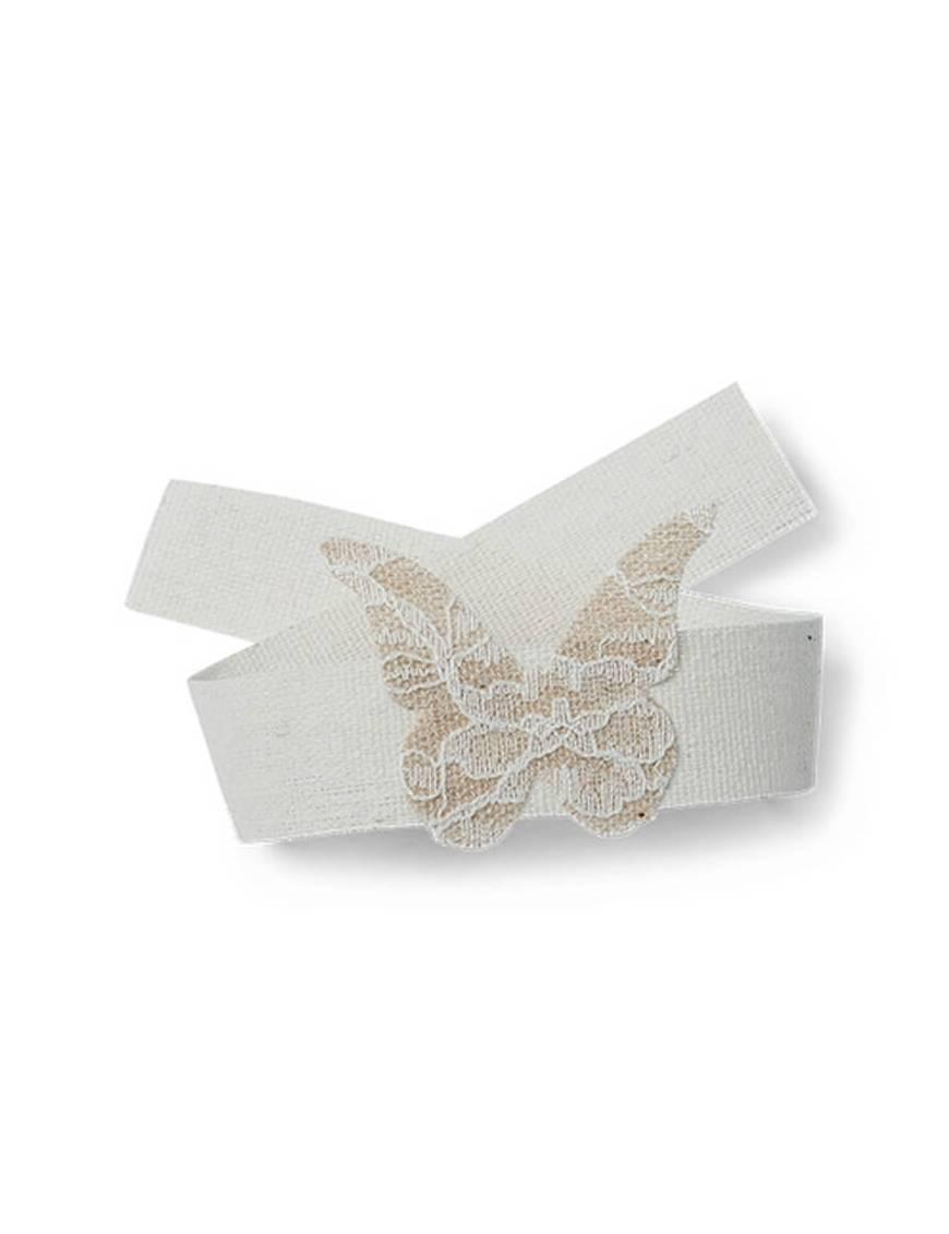 Papillons Jute Dentelle / Ruban 30 cm
