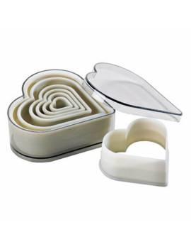 Boîte de 7 découpoirs coeurs cannelés polyglass - Mallard Ferrière