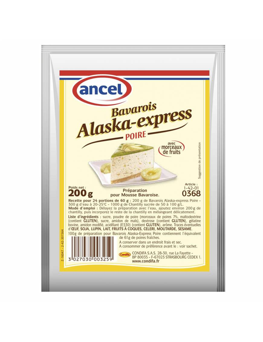 Préparation Bavarois Alaska-Express Poire