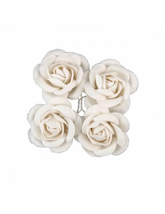 Roses Velours x4