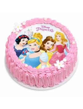 """Disque à gâteau """"Princesses Disney"""" sans sucre - Ø 18,5cm"""