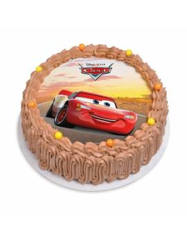 """Disque à gâteau """"Cars"""" sans sucre - Ø 18,5cm"""