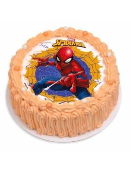 """Disque à gâteau """"Spider-Man"""" sans sucre - Ø 18,5cm"""
