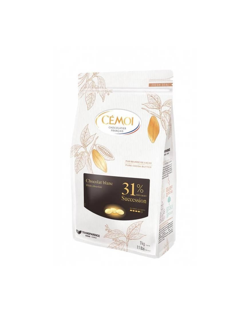 Chocolat Succession Blanc 31% 1kg - CÉMOI