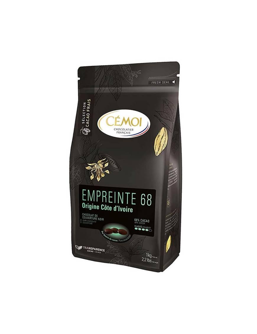 Chocolat Côte d'Ivoire Noir 68% 1kg - CÉMOI