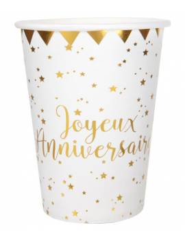 Gobelet j.anniversaire x10 - Santex