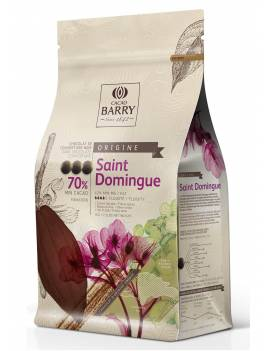 Chocolat de couverture noir Saint Domingue 70% Cacao Barry