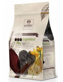Chocolat de couverture noir Equateur 76% Cacao Barry