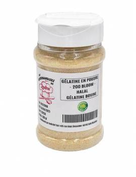 Gélatine en poudre 200 Bloom 200gr - Bovine Halal