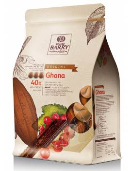 Chocolat de couverture au lait Ghana 40%  Cacao Barry