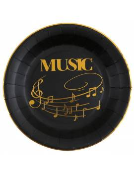 Assiette musique x10 - Santex