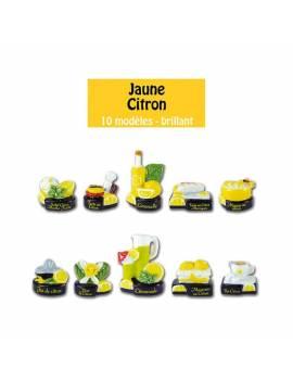 Série de fèves Jaune citron x10