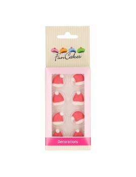 Décor sucre bonnet noël x6 - Funcakes