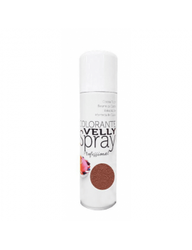 Velly spray Colorant effet velours Brun 250ml - Mallard Ferrière