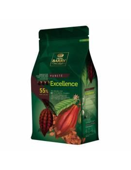 Chocolat de couverture noir Excellence 55% Cacao Barry 5 KG