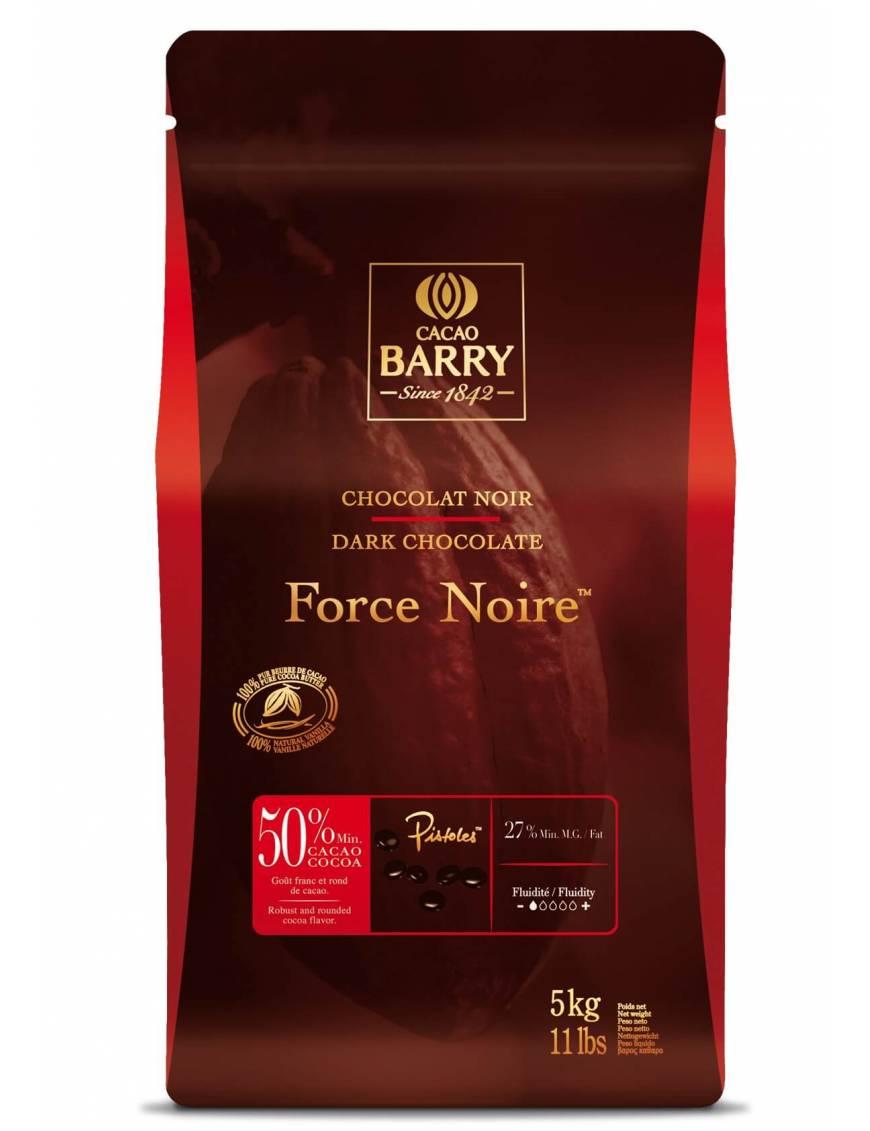 Chocolat de couverture noir Force Noire  50% Cacao Barry 5 KG