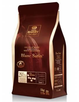 Chocolat de couverture Blanc Satin 29% Cacao Barry 5 KG