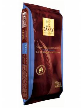 Chocolat de couverture noir Favorites Mi Amère 58% Cacao Barry plaque 2.5 KG