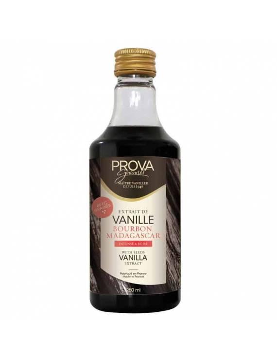 Extrait de vanille Bourbon Madagascar avec grains 250mL - Prova Gourmet