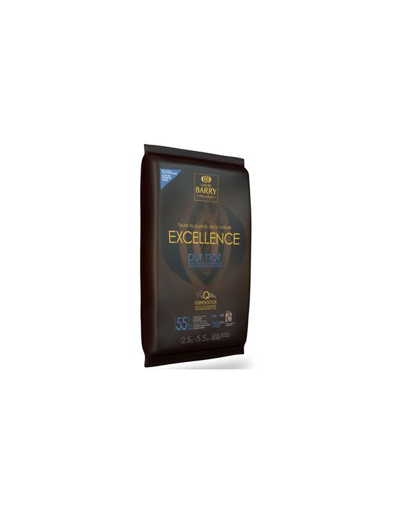 Chocolat de couverture noir Excellence 55% plaque 2.5 Kg - Cacao Barry
