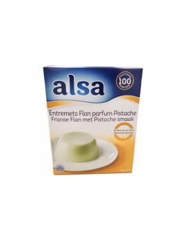 Préparation Flan entremets pistache - Alsa