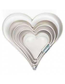 Découpoir Coeur x5 tailles - Cake Supplies