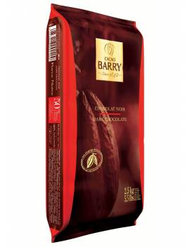 Chocolat de couverture Force Noire 50% Cacao Barry plaque 2.5 KG
