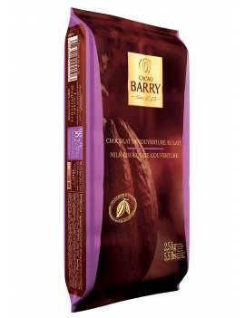 Chocolat de couverture au lait Lactée Supérieure 38% Cacao Barry plaque 2.5 KG