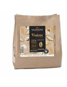 Blond Dulcey 35 % 1kg - Chocolat blond de couverture Valrhona