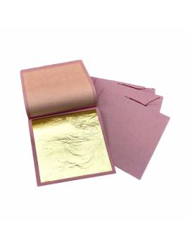 Feuille d'or alimentaire x25 80x80mm