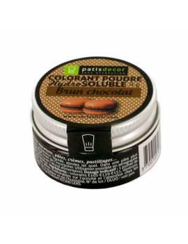 Colorant poudre hydrosoluble brun chocolat - 8g