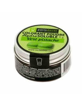 Colorant poudre hydrosoluble vert pistache  - 8g