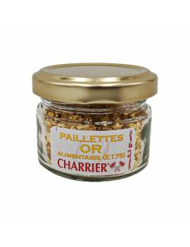 Paillettes OR alimentaire 0.3g calibre 2-4mm