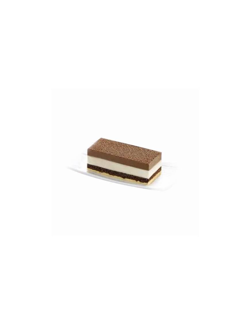 Entremet en bande surgelé - 3 chocolats