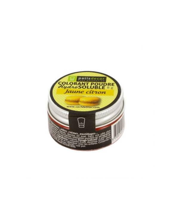 Colorant poudre hydrosoluble jaune citron - 8g