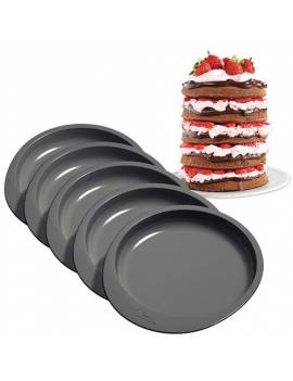 Kit de 5 moules ronds pours layer cake - Wilton